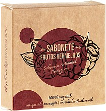 "Parfumuri și produse cosmetice Săpun natural ""Fructe roșii"" - Essencias De Portugal Senses Red Fruits Soap With Olive Oil"