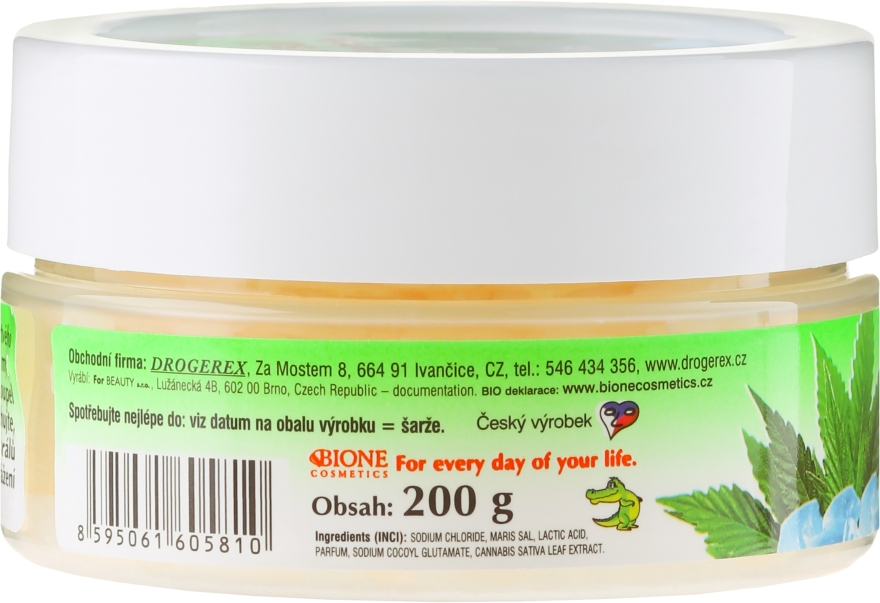 Sare de baie - Bione Cosmetics Cannabis Bath Salt with Dead Sea Minerals — Imagine N2
