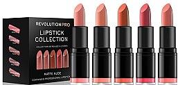 Parfumuri și produse cosmetice Set 5 rujuri - Revolution Pro 5 Lipstick Collection Matte Nude