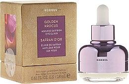 Parfumuri și produse cosmetice Elixir pentru zona din jurul ochilor - Korres Golden Krocus Ageless Eye Elixir
