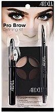 Parfumuri și produse cosmetice Set - Ardell Brow Pro Defining Kit (palette/4g + pencil/2.3g + brush/1pcs)