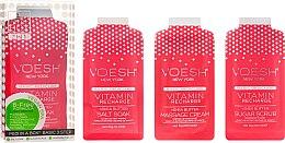 "Set pentru pedichiură ""Grapefruit roz"" - Voesh Pedi In A Box 3 In 1 Deluxe Pedicure Vitamin Recharge Pink Grapefruit (35 g) — Imagine N1"