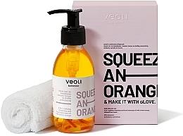 Parfumuri și produse cosmetice Set - Veoli Botanica Squeeze An Orange (f/oil/132.7g + towel/1pcs)