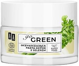 Parfumuri și produse cosmetice Pastă detox cu extract de țelină pentru față - AA Go Green