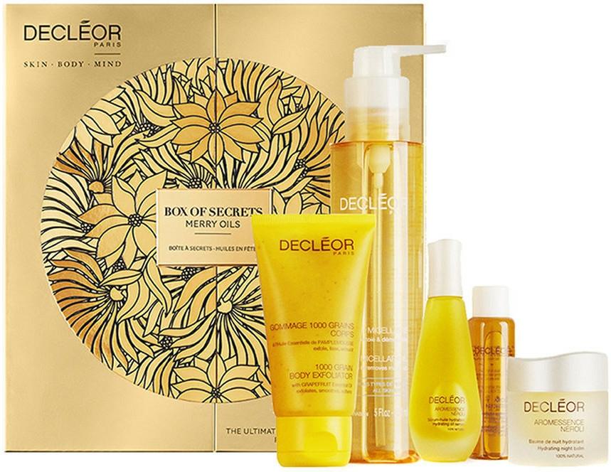 Set - Decleor Box of Secrets Merry Oils (balm/15ml + ser/15ml + miccelar/150ml + oil/15ml + b/exf/50ml) — Imagine N1