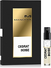 Parfumuri și produse cosmetice Mancera Cedrat Boise - Apă de parfum (mostră)