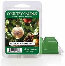 Parfumuri și produse cosmetice Ceară pentru lampă aromatică - Country Candle Bohemian Holiday Wax Melts