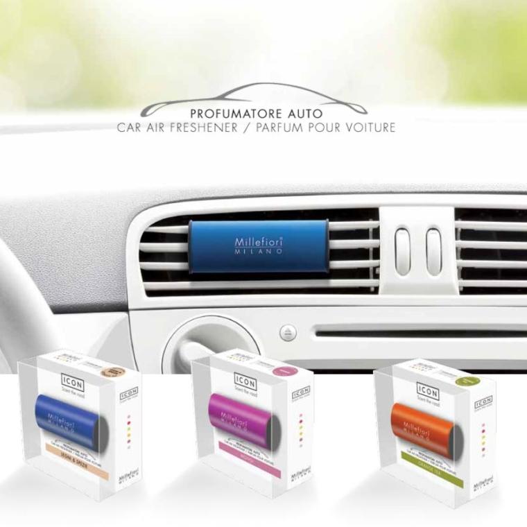 "Aromatizator auto ""Clasic: Sandal și Bergamotă"" - Millefiori Milano Car Air Freshener Icon Classic Giallo Sandalo Bergamotto — Imagine N2"