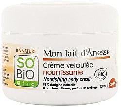 Parfumuri și produse cosmetice Cremă pentru corp - So'Bio Etic Nourishing Body Cream