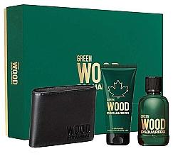Parfumuri și produse cosmetice Dsquared2 Green Wood Pour Homme - Set (edt/100ml + sh/gel/100ml + wallet)