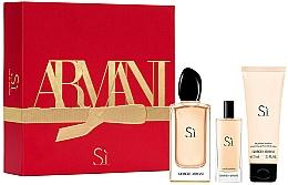 Parfumuri și produse cosmetice Giorgio Armani Si - Set (edp/100ml + edp/15ml + b/lot/75ml)
