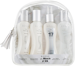 Parfumuri și produse cosmetice Set - BioSilk the Miracle of Silk (shm/67ml + cond/67ml + silk/cond/67ml + gel/67ml + bag)