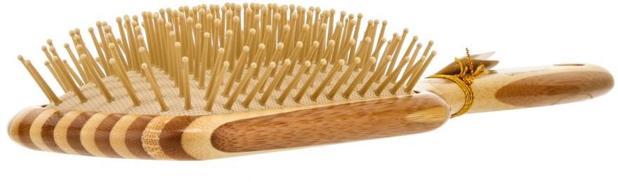 Perie din bambuc pentru păr - Olivia Garden Healthy Hair Rectangular Epoxy Eco-Friendly Bamboo Brush — Imagine N2
