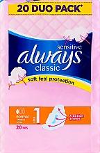Parfumuri și produse cosmetice Absorbante, 20 bucăți - Always Classic Sensitive Normal
