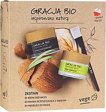 Parfumuri și produse cosmetice Set - Gracja Bio Inspired Nature (cr/50ml + mask/50ml + brush/1)