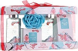 Parfumuri și produse cosmetice Set - Spa Moments Vanille Noire (sh/gel/100ml+sh/gel/100ml+salf/50+soap/50g+sh/sponge)