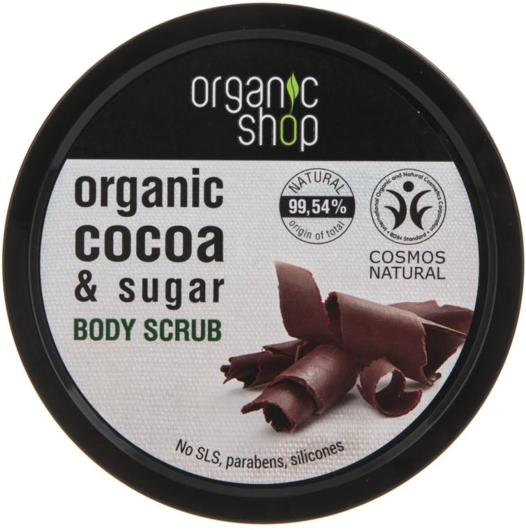Scrub de corp cu ciocolată belgiană - Organic Shop Body Scrub Organic Cocoa & Sugar