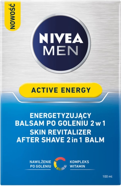Balsam după ras revitalizant - Nivea For Men Active Energy Skin Revitalizer After Shave Balm — Imagine N3