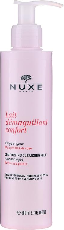 Lăptișor cu petale de trandafir pentru față, ochi și buze - Nuxe Comforting Cleansing Milk With Rose Petals — Imagine N1