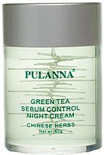 """Parfumuri și produse cosmetice Cremă cu ceai verde pentru față """"De noapte"""" - Pulanna Green Tea Sebum Control Night Cream"""