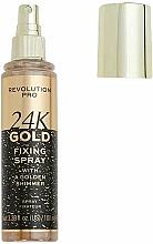 Parfumuri și produse cosmetice Fixator de machiaj - Revolution Pro 24K Gold Fixing Spray