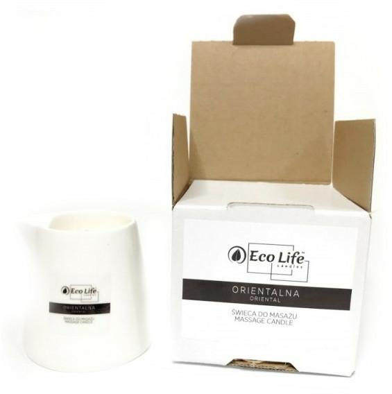"""Lumânare parfumată pentru masaj """"Oriental"""" - Eco Life Candles Massage Candle — Imagine N1"""