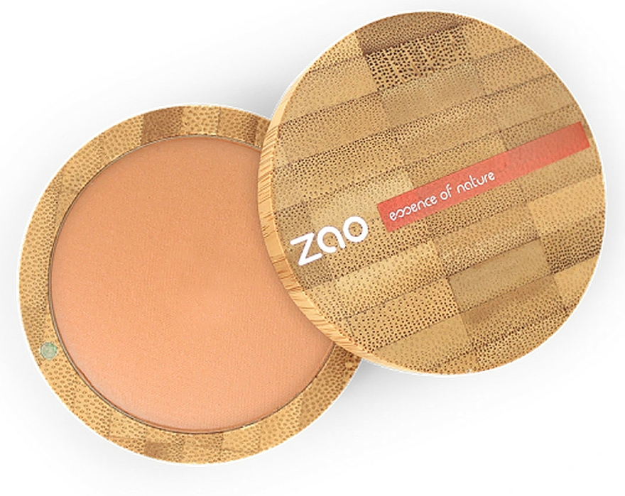 Pudră bronzantă matifiantă - Zao Natural Glow Terracotta Matt Mineral Cooked Powder — Imagine N1