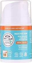 Parfumuri și produse cosmetice Cremă de protecție solară cu mucus de melc - Mlle Agathe Sun SPF 50+