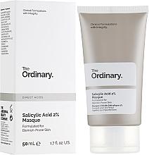 Parfumuri și produse cosmetice Mască cu 2% acid salicilic pentru față - The Ordinary Salicylic Acid 2% Masque