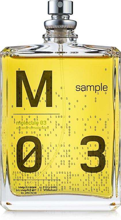 Escentric Molecules Molecule 03 - Apă de toaletă (tester) — Imagine N1