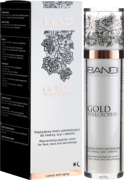 Cremă peptidică anti-îmbătrânire pentru față, gât și decolteu - Bandi Professional Gold Philosophy Rejuvenating Peptide Cream — Imagine N1