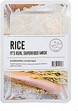 Parfumuri și produse cosmetice Mască pentru netezirea feței - Dermal Mask Rice