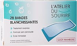 Parfumuri și produse cosmetice Benzi pentru albirea dinţilor, gust de zmeură - L'Atelier Du Sourire