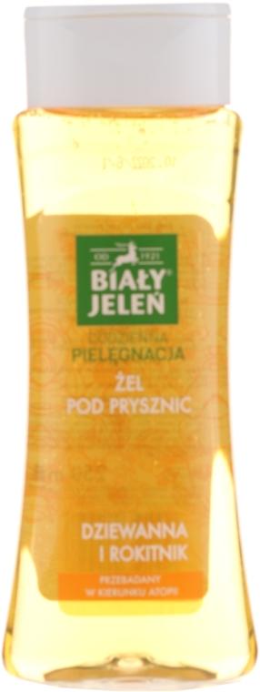 Gel de duș hypoallergenic cu extract de lumânărica și cătină - Bialy Jelen Hypoallergenic Shower Gel Mullein And Sea Buckthorn
