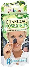 """Parfumuri și produse cosmetice Benzi de nas """"Cărbune"""" - 7th Heaven Charcoal Nose Strips"""