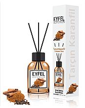 """Parfumuri și produse cosmetice Difuzor de aromă """"Scorțișoară și Cuișoare"""" - Eyfel Perfume Reed Diffuser Cinnamon Clove"""