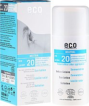 Parfumuri și produse cosmetice Soluție de protecție solară fără aromă - Eco Cosmetics Sun Lotion SPF 20