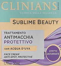 Parfumuri și produse cosmetice Cremă pentru uniformizarea nuanței tenului - Clinians Sublime Beauty Antimacchia Protettivo Face Cream