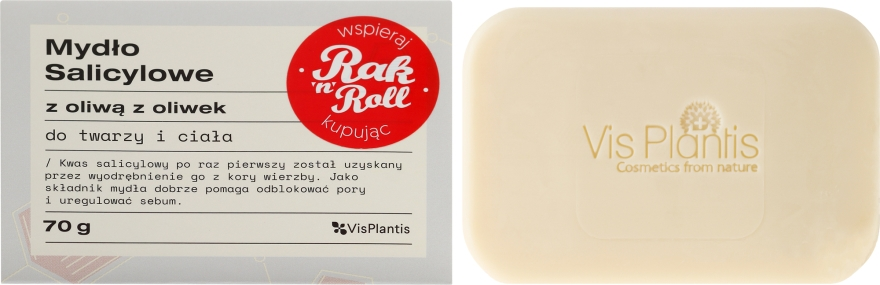 Săpun pentru ten problematic - Vis Plantis Soaps Salicylic Soap With Olive Oil For Face And Body Problem Skin