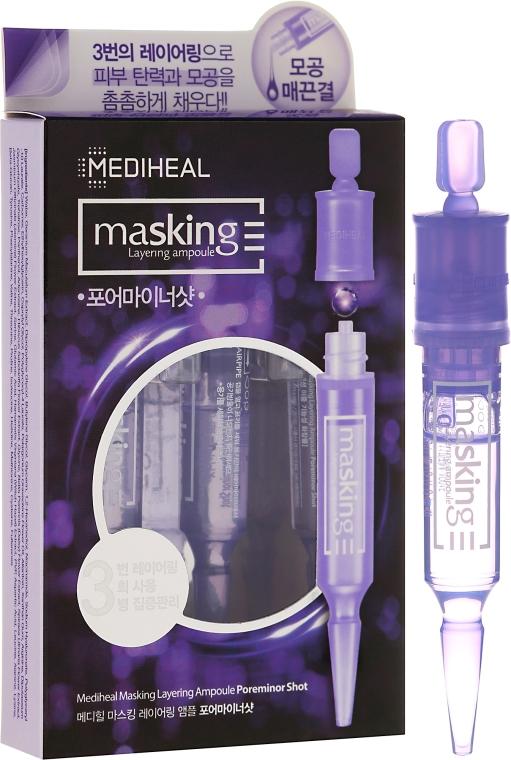 Fiole pentru față - Mediheal Masking Layering Ampoule Poreminor Shot — Imagine N1