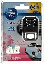 Parfumuri și produse cosmetice Set aromatizator pentru mașină - Ambi Pur Car Air Freshener For Her (freshener/1szt+refill/7ml)