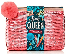 Parfumuri și produse cosmetice Set - Dirty Works Queen Night Out Essentials (lip/stick/2.8ml + b/spray/10ml + nail/file/1pcs + bag)