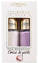 Parfumuri și produse cosmetice Set - L'Oreal Paris Color Riche Nail Polish (nail/polish/2x5ml) (2 x 5 ml)