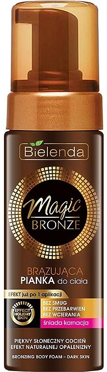 Spumă bronzantă de corp, pentru piele închisă - Bielenda Magic Bronze