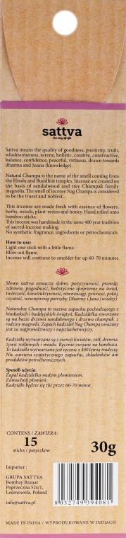 Stick-uri aromatice - Sattva Champa — Imagine N2