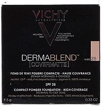Pudră de față, cu efect matifiant - Vichy Dermablend Covermatte Compact Powder SPF 25 — Imagine N2