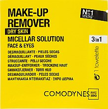 Parfumuri și produse cosmetice Șervețele demachiante - Comodynes Make Up Remover Micellar Solution Easy Cleanser
