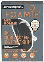 Parfumuri și produse cosmetice Săpun de duș 3în1, pentru bărbați - Foamie 3in1 Shower Body Bar For Men What A Man