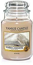 """Parfumuri și produse cosmetice Lumânare parfumată în pahar """"Ziua nunții"""" - Yankee Candle Warm Cashmere"""