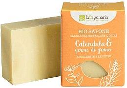 Parfumuri și produse cosmetice Săpun cu extract de gălbenele și ulei de germeni de grâu - La Saponaria Calendula & Wheat Germ Soap